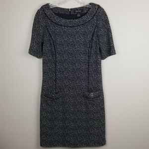 White House Black Market scoop neck dress size 6